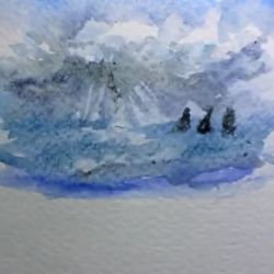 Comment faire un ciel à l'aquarelle ?