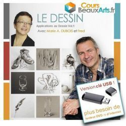 "Clé USB ""Dessin : Applications au Dessin Volume 1"""